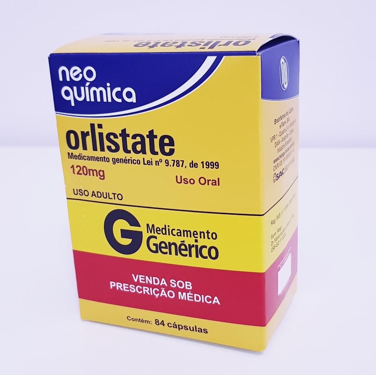 Frasco aberto com pílulas metade branca e metade vermelha ilustrando Orlistate Bula